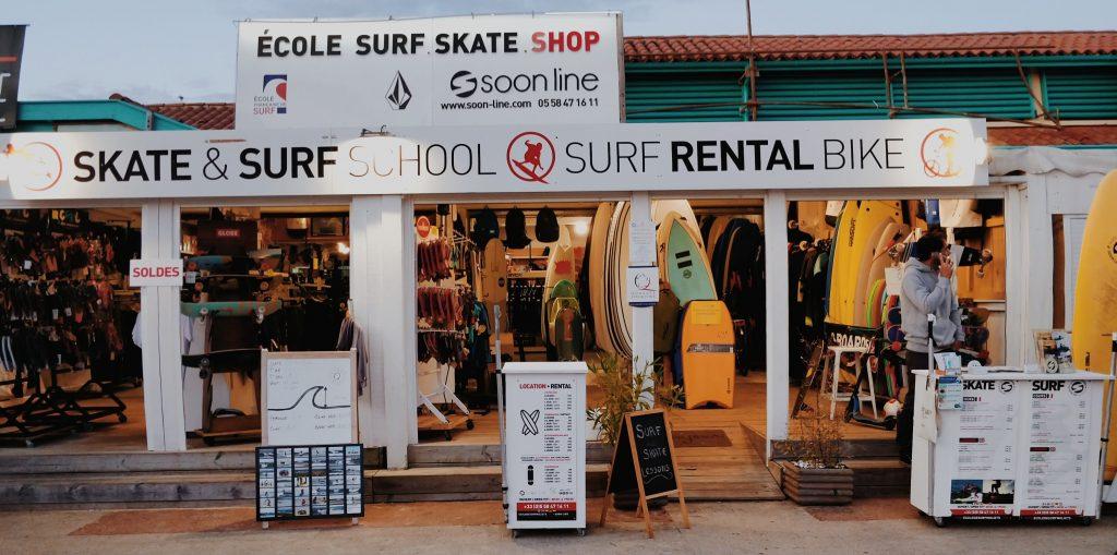 Soonline ecole de surf et skate Moliets-et-Maa Moliets plage (1)
